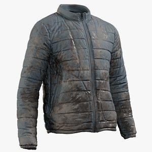 3D model realistic mens jacket 3