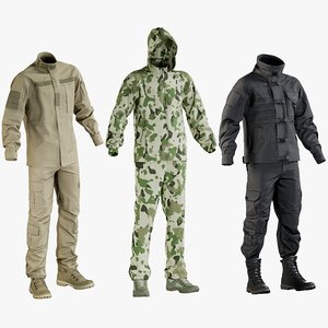 3D realistic military clothing uniform