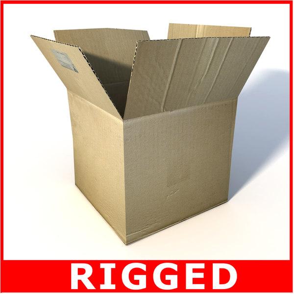 box card cardboard 3d model