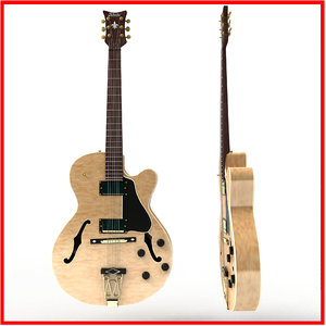 3d jazz guitar model