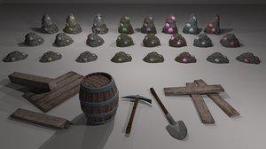 3D miner pack