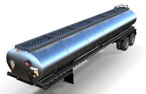 fuel tanker trailer 3D