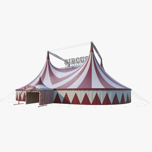 3D circus tent fair model