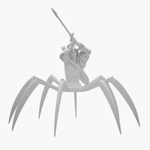 3D spider warrior print