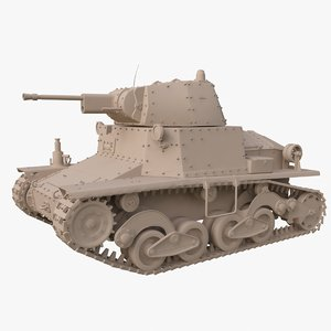 tank l6 40 ansaldo 3D model