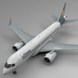 3D lufthansa airbus a220-300 l601