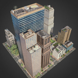 3D city exterior streets