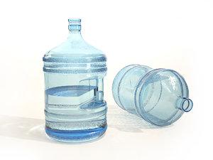plastic water bottle 3D