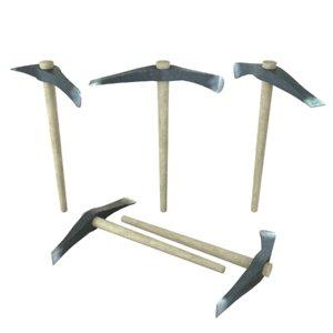 3D pick axe model
