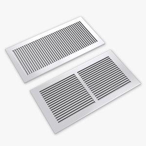 3D air vent register