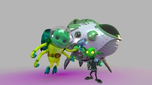 3D model aliens characters cartoon