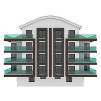 Simple Building Model with Double Terrace