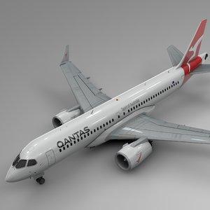 3D model qantas airbus a220-300 l604