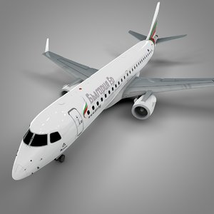 bulgaria air embraer190 l602 3D model