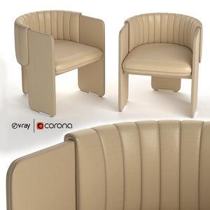 3D luigi massoni armchair poltrona frau