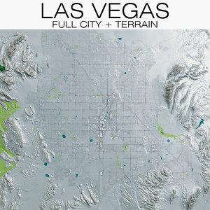 las vegas city terrain 3D model