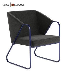 3D lyft lounge chair model
