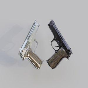 beretta handgun 3D model