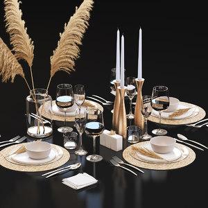 3D table setting 22