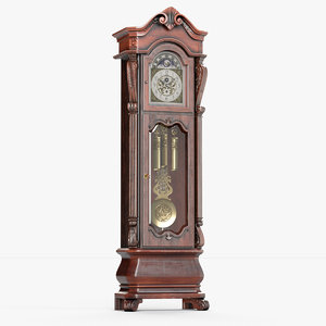 3D howard miller grandfather clock