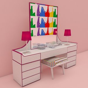 dressing decor table 3D model