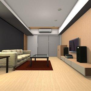 design sense living room 3D