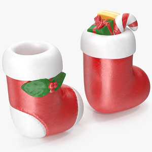 christmas sock figurines model