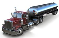 Peterbilt 359 fuel trailer