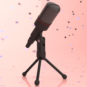 microphone stand 3D model