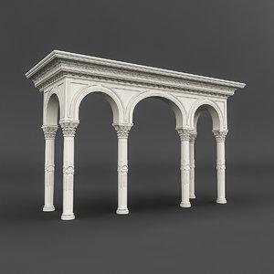 3D mosque entrance 01