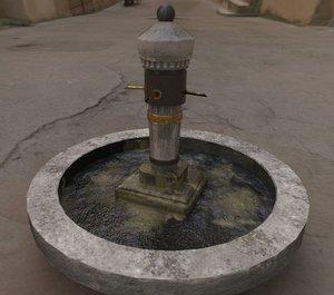 3D stone fountain model