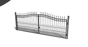 wrought iron gate 3D