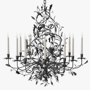 pouenat - ebene chandelier 3D