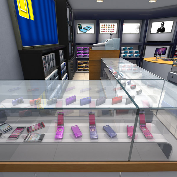 Taiwan Mobile Phone Shop 3d Model Turbosquid 1516975