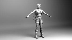 3D croft character