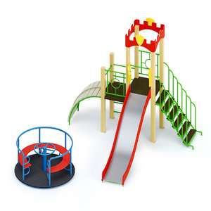 outdoor playground 3D model