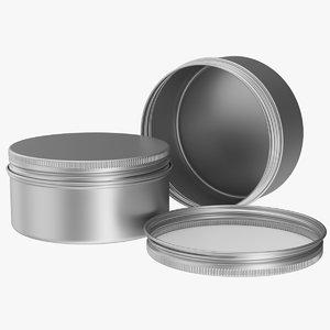 3D model 75ml aluminium jar