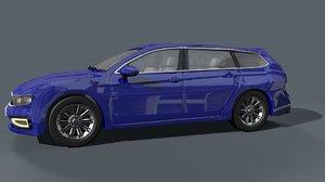 3D generic estate car vehicle