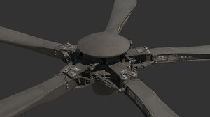 3D main rotor atak helicopter