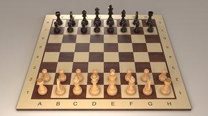 chess set niggemann 3D model