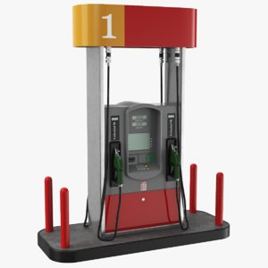 3D model real fuel pump