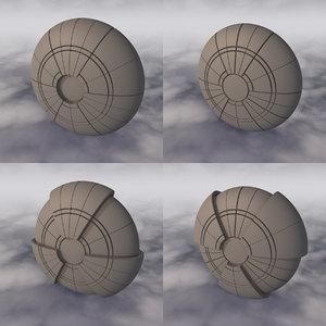 space sci-fi spaceship 3D model