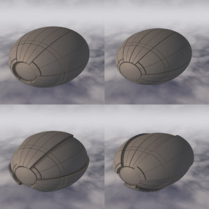 3D space sci-fi spaceship model