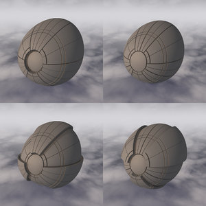3D space sci-fi spaceship