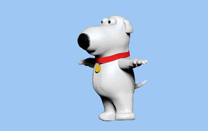 3D brian griffin family guy model