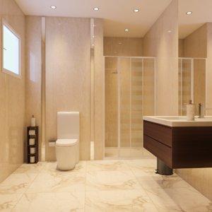 3D interior scene bathroom