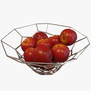 apple bowl 3D