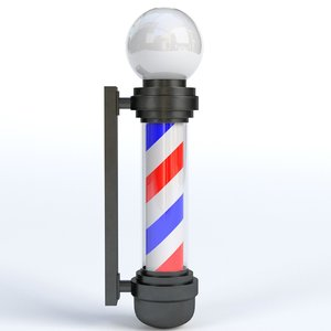 barber shop pole 3D model