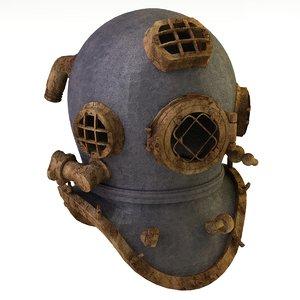 3D bronze helmet
