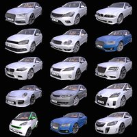 Pack of 15 Generic European cars
